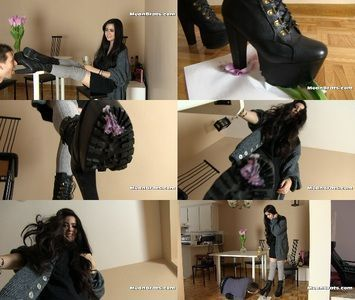 Mistress gets gum licked off boots